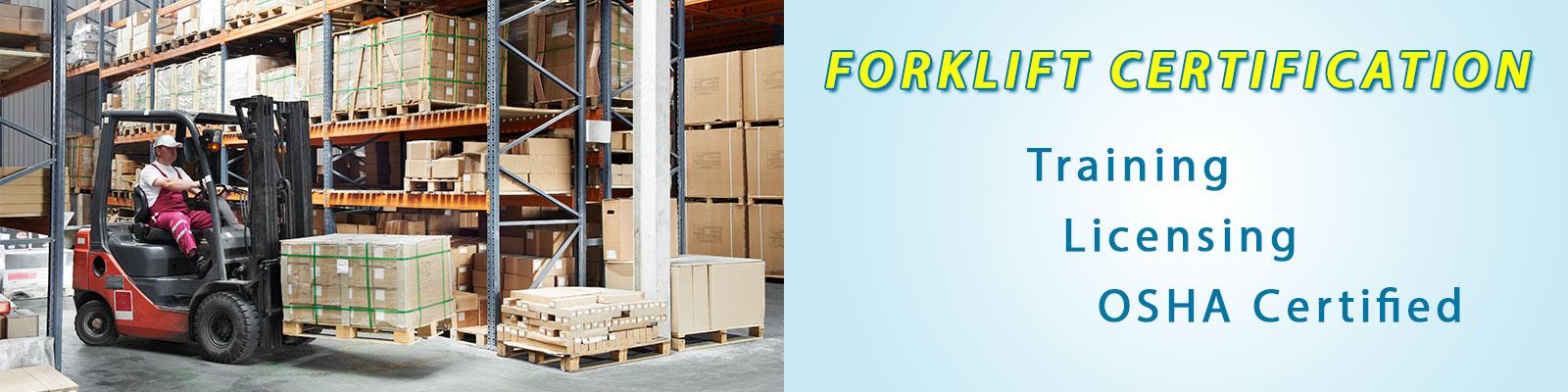 Forklift certification special